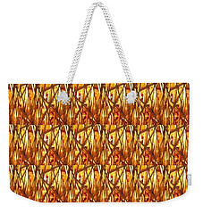 Weekender Tote Bag featuring the photograph Gold Strand Sparkle Decorations by Navin Joshi