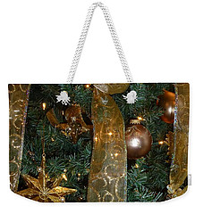Gold Tones Tree Weekender Tote Bag