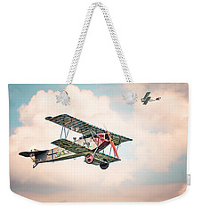 Weekender Tote Bag featuring the photograph Golden Age Of Aviation - Replica Fokker D Vll - World War I by Gary Heller