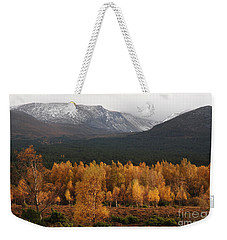 Golden Autumn - Cairngorm Mountains Weekender Tote Bag by Phil Banks