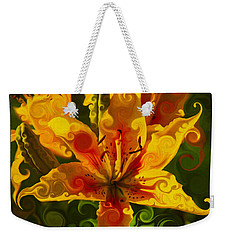 Weekender Tote Bag featuring the painting Golden Beauties by Omaste Witkowski
