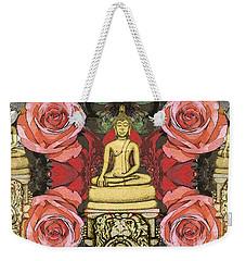 Golden Buddha In The Garden Weekender Tote Bag