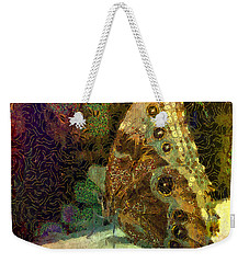 Golden Butterfly Weekender Tote Bag