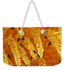 Golden  Buzz Weekender Tote Bag