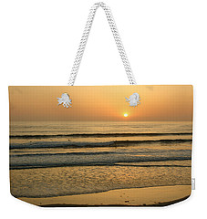Golden California Sunset - Ocean Waves Sun And Surfers Weekender Tote Bag