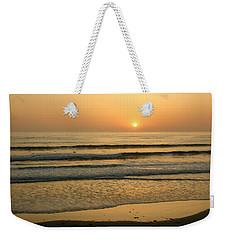 Golden California Sunset - Ocean Waves Sun And Surfers Weekender Tote Bag