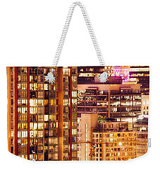 Weekender Tote Bag featuring the photograph City Of Vancouver - Golden City Of Lights Cdlxxxvii by Amyn Nasser