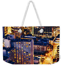 Golden Cityscape Vancouver Mcccl Weekender Tote Bag