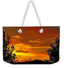 Weekender Tote Bag featuring the photograph Golden Dawn by Mark Blauhoefer