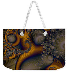 Golden Dream Of Fossils Weekender Tote Bag by Elizabeth McTaggart