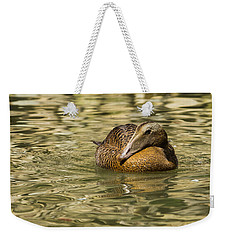 Golden Eider Weekender Tote Bag