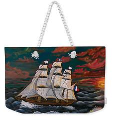 Golden Era Of Sail Weekender Tote Bag