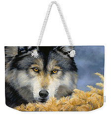 Golden Eyes Weekender Tote Bag by Lucie Bilodeau