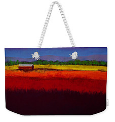 Golden Field Weekender Tote Bag by David Patterson