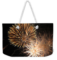Golden Fireworks Weekender Tote Bag by Rowana Ray