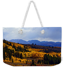 Golden Fourteeners Weekender Tote Bag by Jeremy Rhoades
