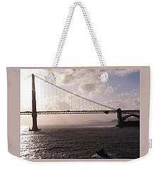 Golden Gate And Bay Bridge Weekender Tote Bag