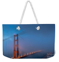 Golden Gate At Blue Hour Weekender Tote Bag