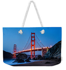 Golden Gate At Twilight Weekender Tote Bag