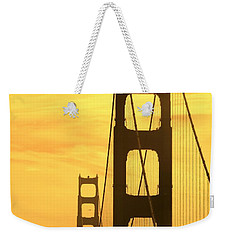 Weekender Tote Bag featuring the photograph Golden Gate Bridge  by Clare Bevan