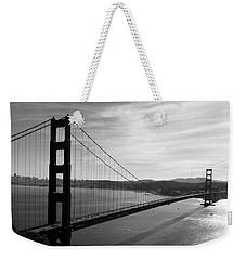 Golden Gate Bridge In Black And White Weekender Tote Bag