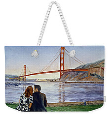 Golden Gate Bridge San Francisco - Two Love Birds Weekender Tote Bag