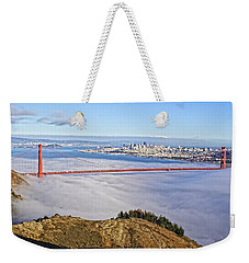 Weekender Tote Bag featuring the photograph Golden Gate by Dave Files