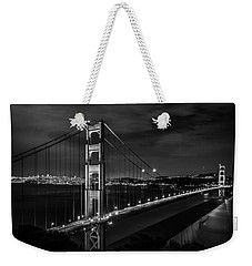 Golden Gate Evening- Mono Weekender Tote Bag