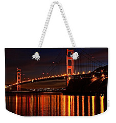 Weekender Tote Bag featuring the photograph Golden Glory by Dave Files