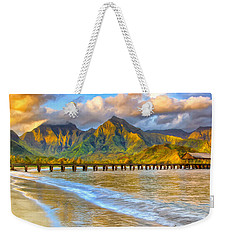 Golden Hanalei Morning Weekender Tote Bag