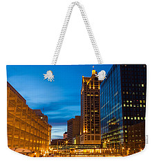 Golden Hour Milwaukee River Weekender Tote Bag