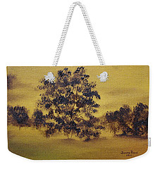 Weekender Tote Bag featuring the painting Golden Landscape by Judith Rhue