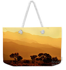 Golden Mountain Light Weekender Tote Bag by David Lawson