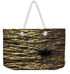 Weekender Tote Bag featuring the photograph Golden Ocean by Miroslava Jurcik