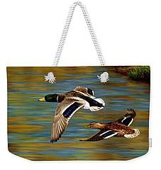 Golden Pond Weekender Tote Bag by Crista Forest