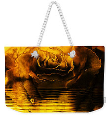 Golden Rose On The Lake Weekender Tote Bag by Elizabeth McTaggart