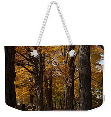 Golden Rows Of Maples Guide The Way Weekender Tote Bag by Jeff Folger