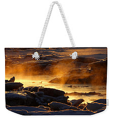 Golden Sea Smoke At Sunrise Weekender Tote Bag