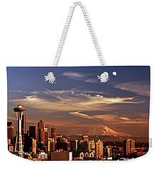 Golden Seattle Weekender Tote Bag