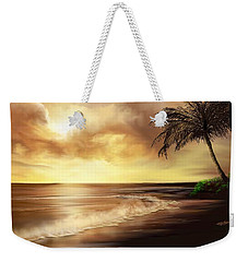 Golden Sky Over Tropical Beach Weekender Tote Bag by Anthony Fishburne