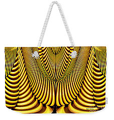 Weekender Tote Bag featuring the painting Golden Slings by Rafael Salazar