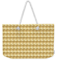 Weekender Tote Bag featuring the photograph Golden Sparkle Tone Pattern Unique Graphic V2 by Navin Joshi