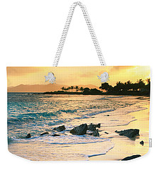 Golden Sunrise On Sapphire Beach Weekender Tote Bag by Roupen  Baker