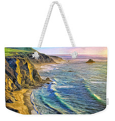 Golden Sunset At Big Sur Weekender Tote Bag
