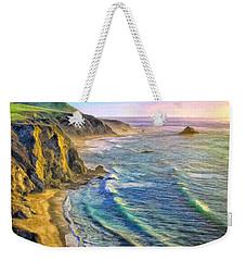 Golden Sunset At Big Sur Weekender Tote Bag