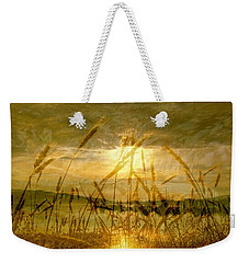 Golden Sunset Weekender Tote Bag by Barbara St Jean