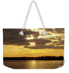 Weekender Tote Bag featuring the photograph Golden Sunset by John Telfer