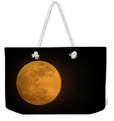 Golden Super Moon Weekender Tote Bag by Kathy Barney