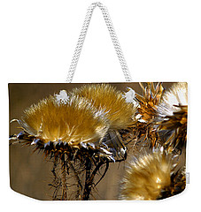 Golden Thistle Weekender Tote Bag by Bill Gallagher