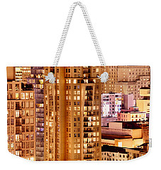 Weekender Tote Bag featuring the photograph Golden Vancouver Cityscape Cdxii By Amyn Nasser by Amyn Nasser